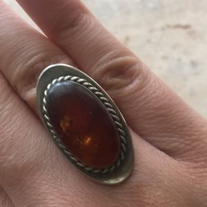Jewelry - Orange Amber ring
